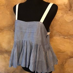 Free People Unique flounce top with peekaboo sides